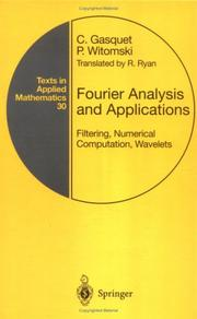 Cover of: Fourier Analysis and Applications | Claude Gasquet