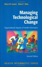 Cover of: Managing technological change