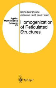 Cover of: Homogenization of reticulated structures