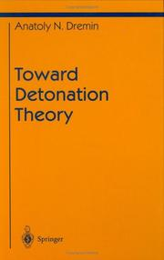 Cover of: Toward detonation theory