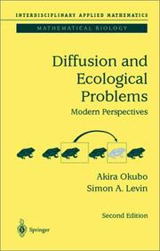 Cover of: Diffusion and Ecological Problems | Akira Okubo