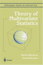 Cover of: Theory of multivariate statistics | Martin Bilodeau