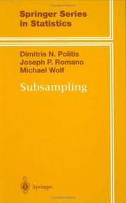 Cover of: Subsampling