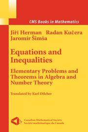 Cover of: Equations and Inequalities | Jiri Herman