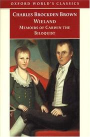 Cover of: Wieland; or the Transformation and Memoirs of Carwin, The Biloquist