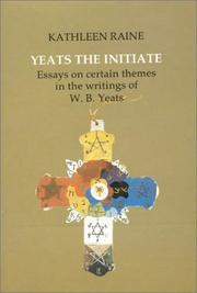 Cover of: Yeats the initiate