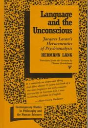 Cover of: Language and the unconscious | Hermann Lang