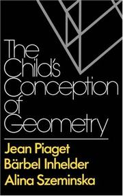 Cover of: The child's conception of geometry