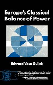 Europe's classical balance of power by Edward Vose Gulick