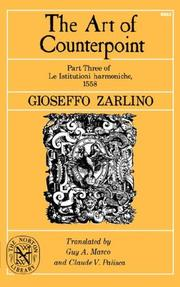 Istitutioni harmoniche by Gioseffo Zarlino