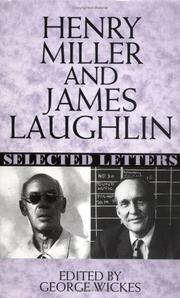 Cover of: Henry Miller and James Laughlin