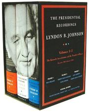 Cover of: The Presidential Recordings Lyndon B. Johnson (Presidential Recordings) | Robert David Johnson