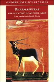 Cover of: Dharmasutras | Patrick Olivelle