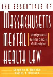 Cover of: The essentials of Massachusetts mental health law