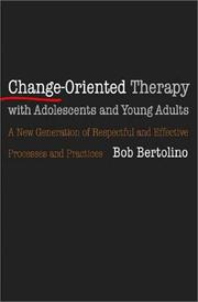 Cover of: Change-Oriented Therapy with Adolescents and Young Adults