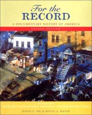 Cover of: For the record