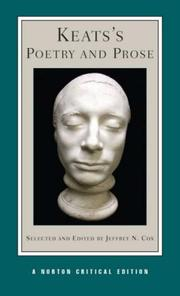 Cover of: Keats's Poetry and Prose