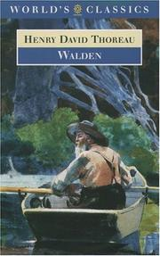 Cover of: Walden (Oxford World's Classics) | Henry David Thoreau