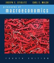 Cover of: Principles of macroeconomics