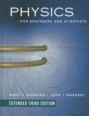 Cover of: Physics for Engineers and Scientists, Extended Edition | Hans C. Ohanian
