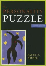 Cover of: The Personality Puzzle, Fourth Edition | David C. Funder