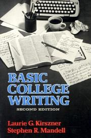 Cover of: Basic college writing