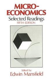 Cover of: Microeconomics, Selected Readings | Edwin Mansfield