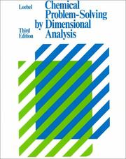 Cover of: Chemical problem-solving by dimensional analysis