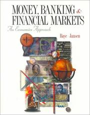 Cover of: Money, banking, and financial markets