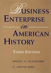 Cover of: Business enterprise in American history
