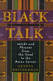 Cover of: Black talk