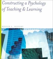 Cover of: Constructing a Psychology of Teaching and Learning