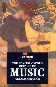 Cover of: The concise Oxford history of music