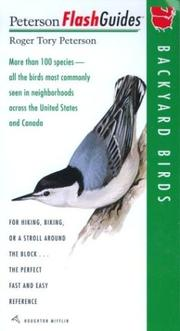 Cover of: Backyard Birds | Roger Tory Peterson