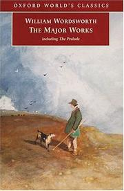 Cover of: The major works: Including The Prelude (Oxford World's Classics)