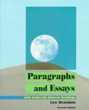 Paragraphs and Essays by Lee E. Brandon