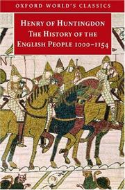 Cover of: The history of the English people, 1000-1154