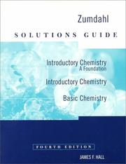 Cover of: Solutions Guide Introductory Chemistry | Steven S. Zumdahl