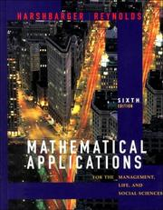 Cover of: Mathematical applications for the management, life, and social sciences