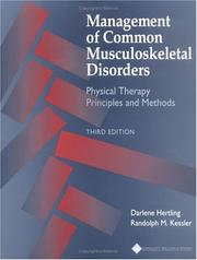 Management of common musculoskeletal disorders by Darlene Hertling