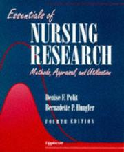 Cover of: Essentials of nursing research | Denise F. Polit