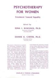 Cover of: Psychotherapy for women | edited by Edna I. Rawlings, Dianne K. Carter.