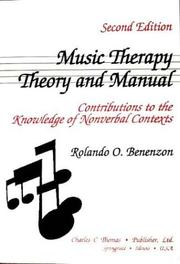 Cover of: Music therapy in child psychosis | Rolando O. Benenzon