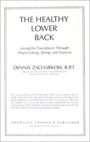 Cover of: The healthy lower back | Dennis Zacharkow