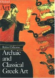 Cover of: Archaic and classical Greek art