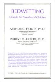 Cover of: Bedwetting | Arthur C. Houts