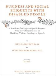 Cover of: Business and social etiquette with disabled people | Chalda Maloff