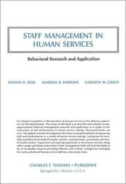 Cover of: Staff management in human services