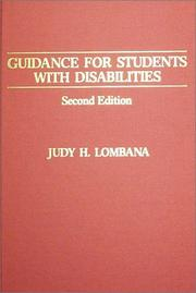 Cover of: Guidance for students with disabilities | Judy H. Lombana