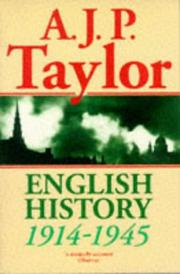 Cover of: English History, 1914-1945 (Oxford History of England) | A. J. P. Taylor
